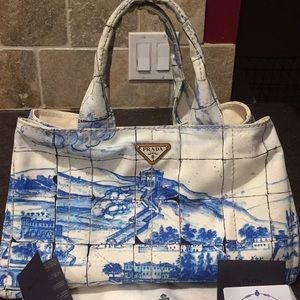 Authentic Prada European Exclusive Canvas Bag